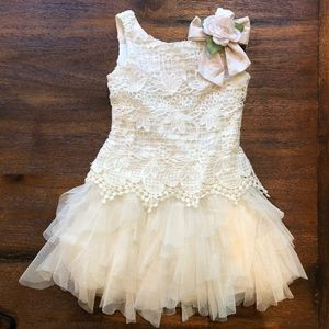 Biscotti girls crotchet tulle dress size 4